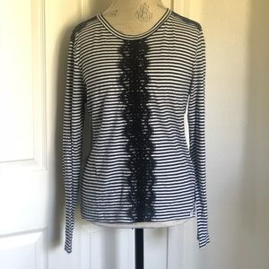 J. Crew stripped shirt size large